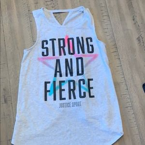 Girls Justice tank top size 10